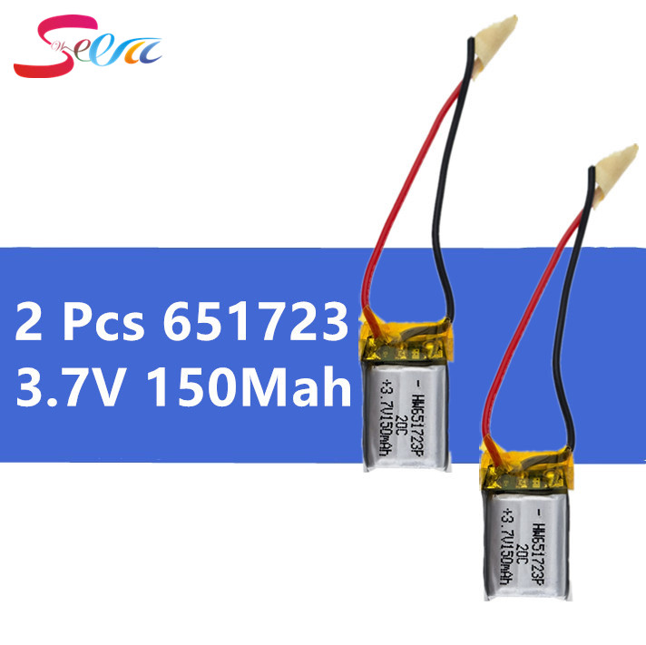 2 шт/комплект 3.7 В 150 мАч Li-Po батарея 651723 для SYMA S107 S107G s107-19 skytech M3 запасные Запчасти для Вертолет