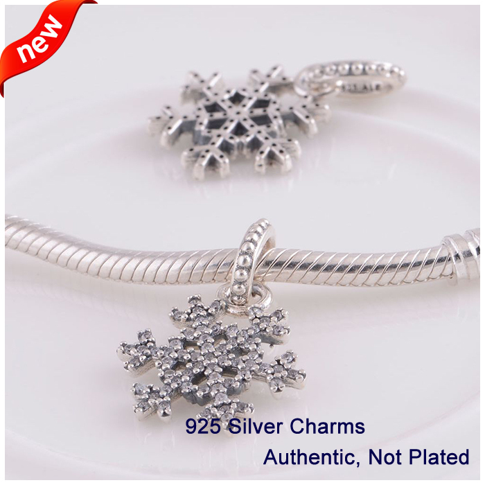 L341 New Arrival Authentic 925 Sterling Silver Beads snowflake - Fine Jewelry - Photo 3