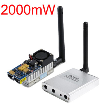 Boscam RC305 5.8G FPV 2W 2000Mw Wireless Audio video transmitter AV sender and receiver RC305 5705-5945Mhz free shipping boscam fpv 5 8g wireless audio video receiver receiving module rx5808