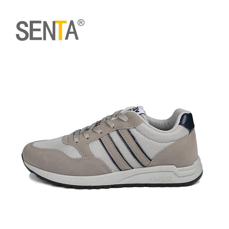 SENTA autumn men running shoes warm mesh men sneakers retro classic running shoes men outdoor sneakers 1636 sport shoes men