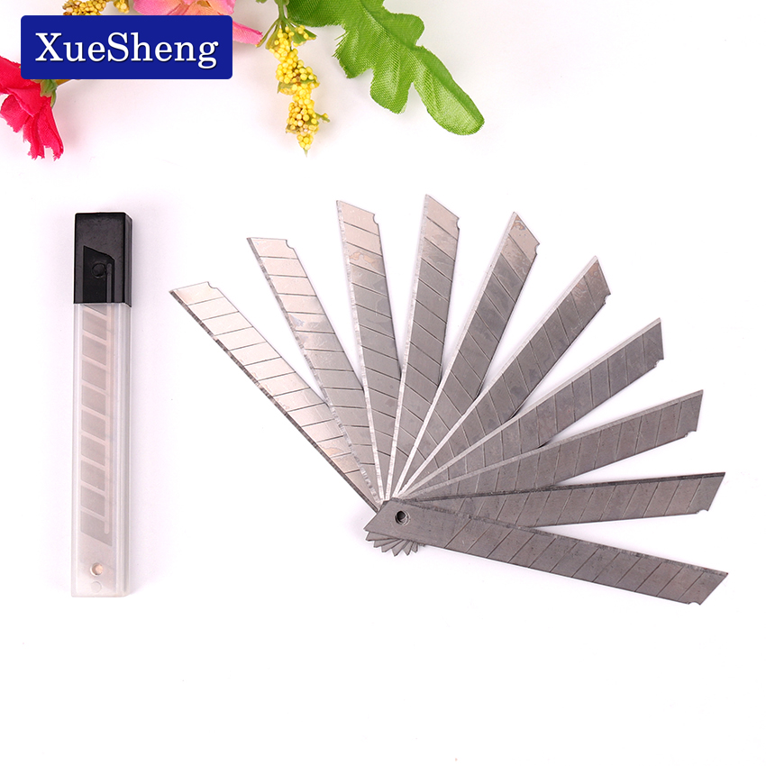 10PCS Art Blade 30 Degrees Blade Trimmer Sculpture Blade Utility Knife General Office Stationery Supplies