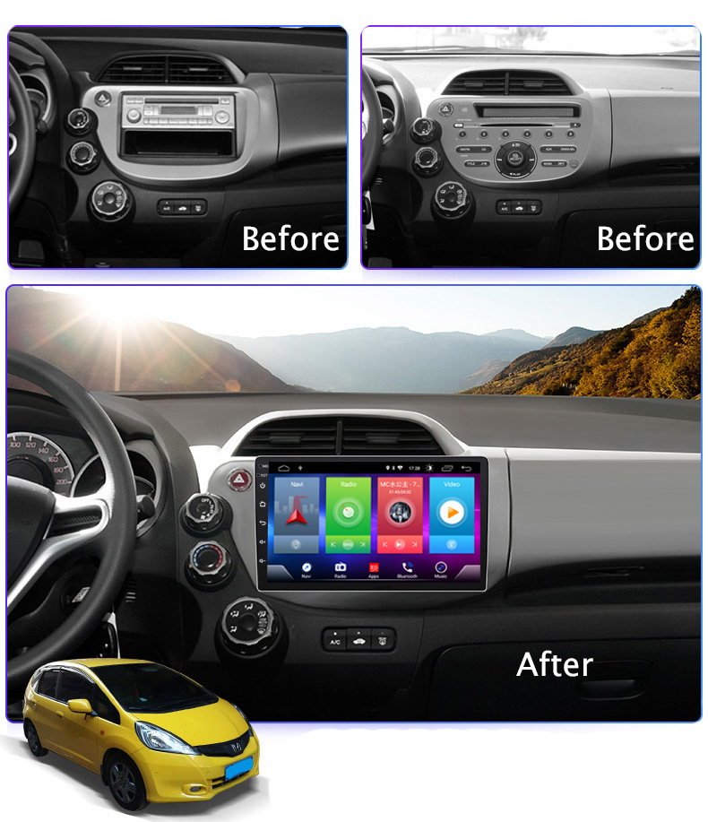 All kinds of cheap motor honda fit android head unit in All B