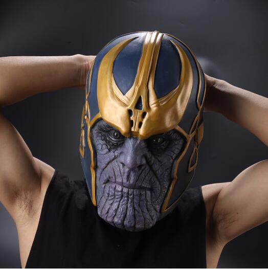 The Avengers of the Tanos Infinity Gauntlet Cosplay Schemes for the brazier Prop HALLOUIN hard latex Avengers: Infinity War Mask