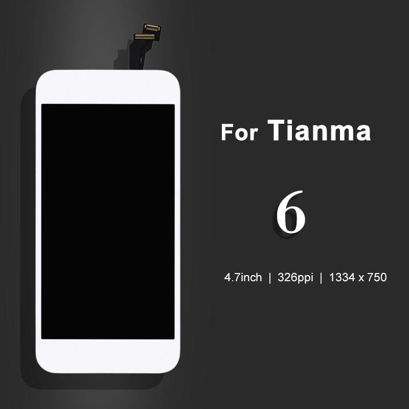 for Tianma quality 10pcs For iPhone 6 Lcd Display With Touch Screen Glass Digitizer Assembly Replacement