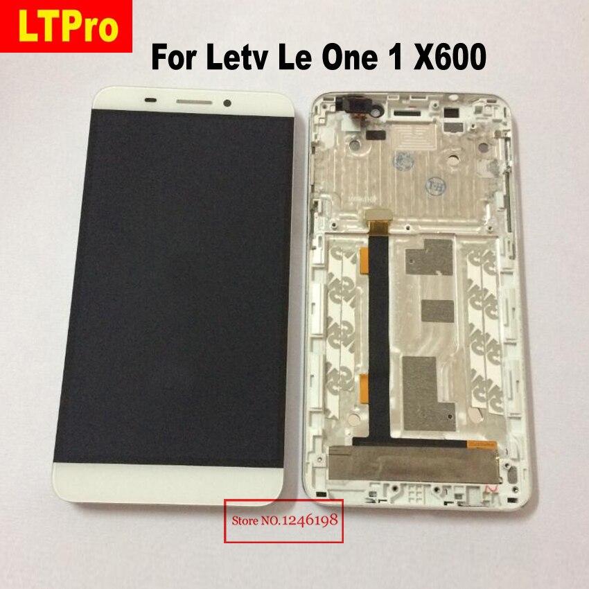 LTPro Haute Qualité X600 LCD Affichage à L'écran Tactile Digitizer Assemblée avec cadre Pour Letv Le Une 1X608 Téléphone pièces de rechange