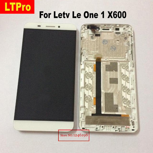 LTPro High Quality X600 LCD Display Touch Screen Digitizer Assembly with frame For Letv Le One 1 Mobile Phone Replacement Parts