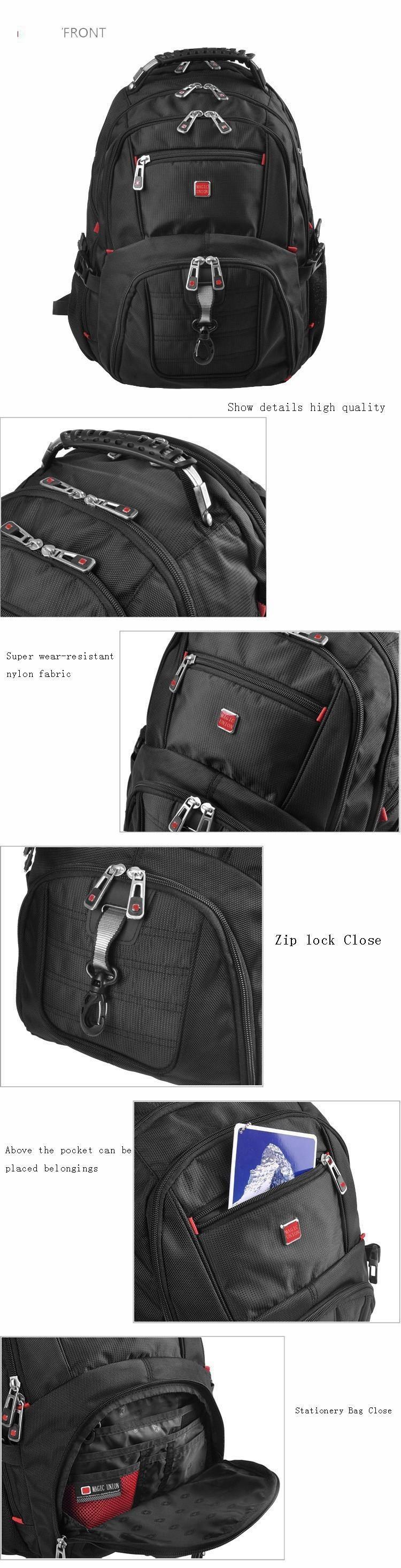 MAGIC UNION Oxford Men Laptop Backpack Mochila Masculina 15 Inch Man's Backpacks Men's Luggage & Travel bags Wholesale 7