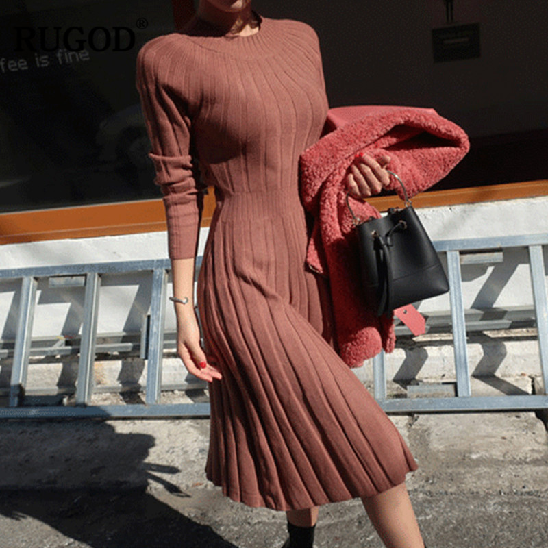 RUGOD 2018 Latest Sweater Dress Long Style for Women Fashion Winter Dress...