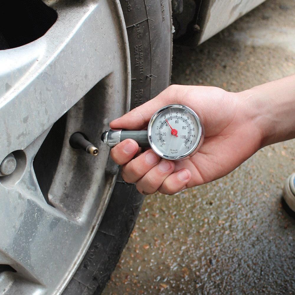 Tire Pressure Gauge Dial Meter Water Oil Compressor Meter Pressure Tyre Measurement Tool Manifold Digital Cars Motorcycles