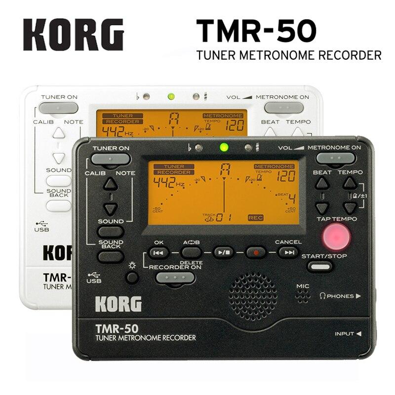 Accordeur KORG TMR50 + métronome + enregistreur, accordeur Combo TM50/métronome utilisé pour les Instruments à clavier vent, guitare, ukulélé et Piano