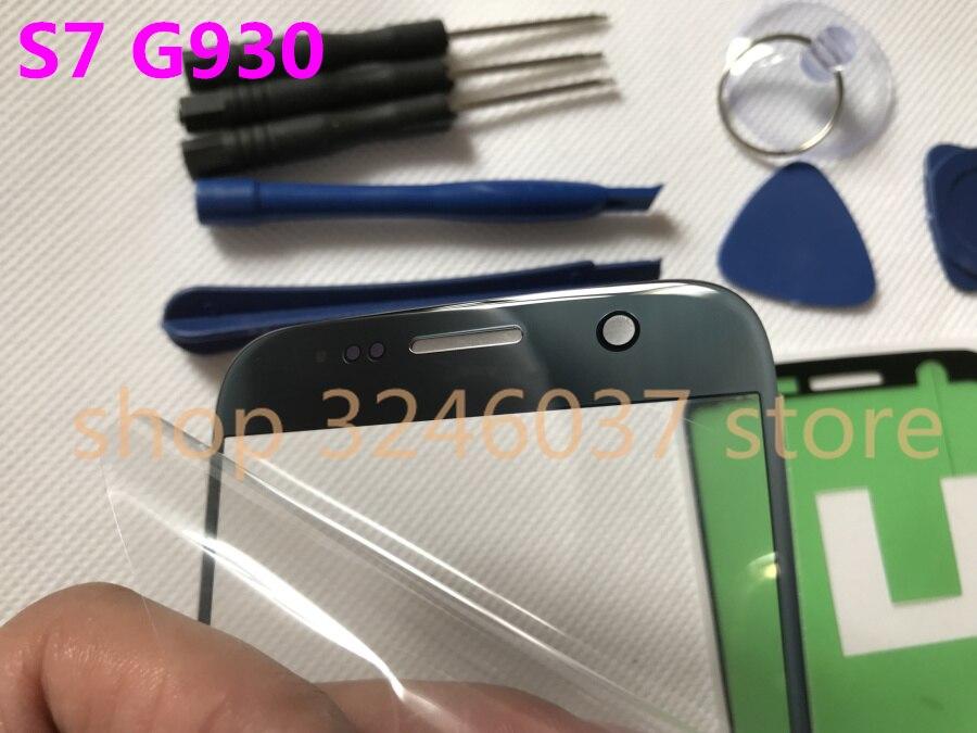 Original Frente Outer Lente de Vidro Substituição Da Tela de Toque para Samsung Galaxy S7 G930 G930A G930F G930T + Ferramentas de Reparo com adesivo