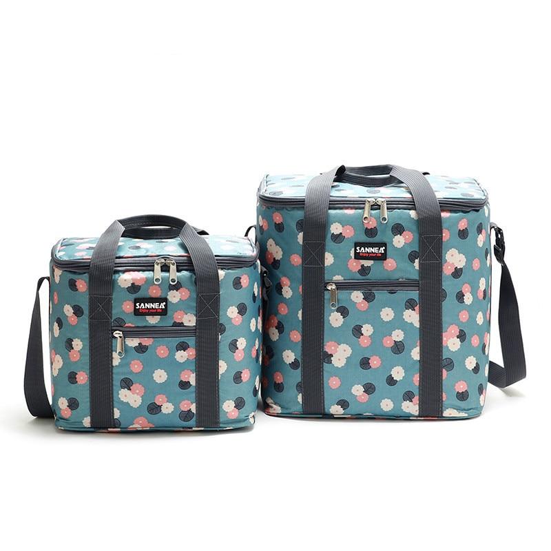 Large Capacity Cooler Lunch Bags Insulated Print Waterproof Thermal Lunchbox Travel Food Picnic Bag For Women Men Bolsa Termica