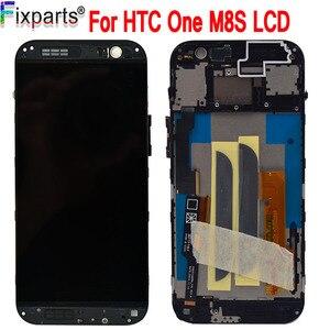 "Image 1 - שחור 5.0 ""עבור HTC אחד M8S LCD תצוגת מסך מגע Digitizer הרכבה 1920X1080 החלפה עם מסגרת עבור HTC M8S LCD"