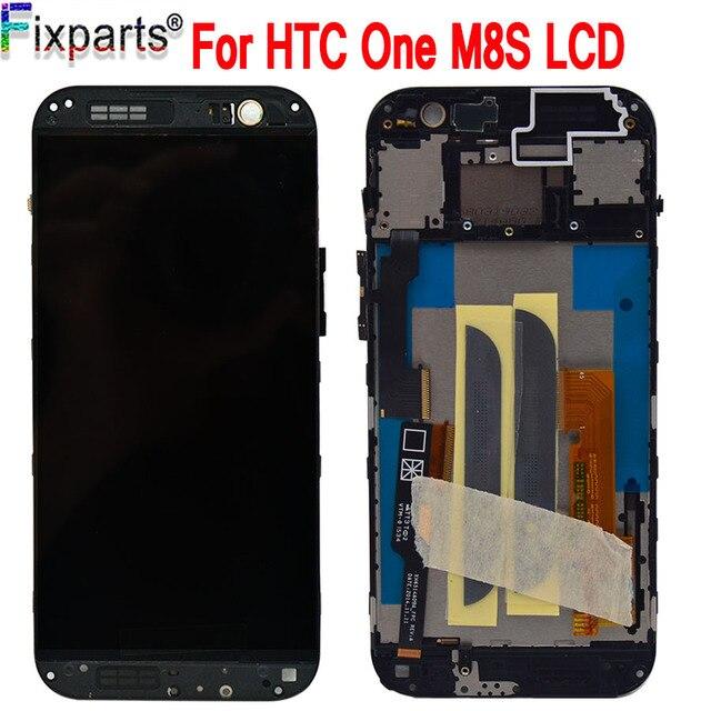 """黒 5.0 """"Htc One M8S Lcd ディスプレイタッチスクリーンデジタイザアセンブリ 1920 × 1080 交換のためのフレームと HTC M8S 液晶"""