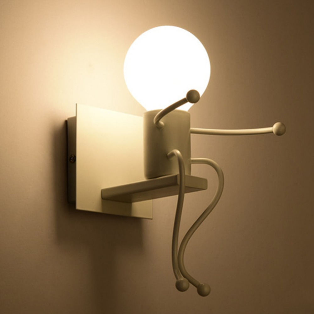 Childrens Wall Lamp: Modern Design Children Bedroom Wall Lamp Unique Appearance