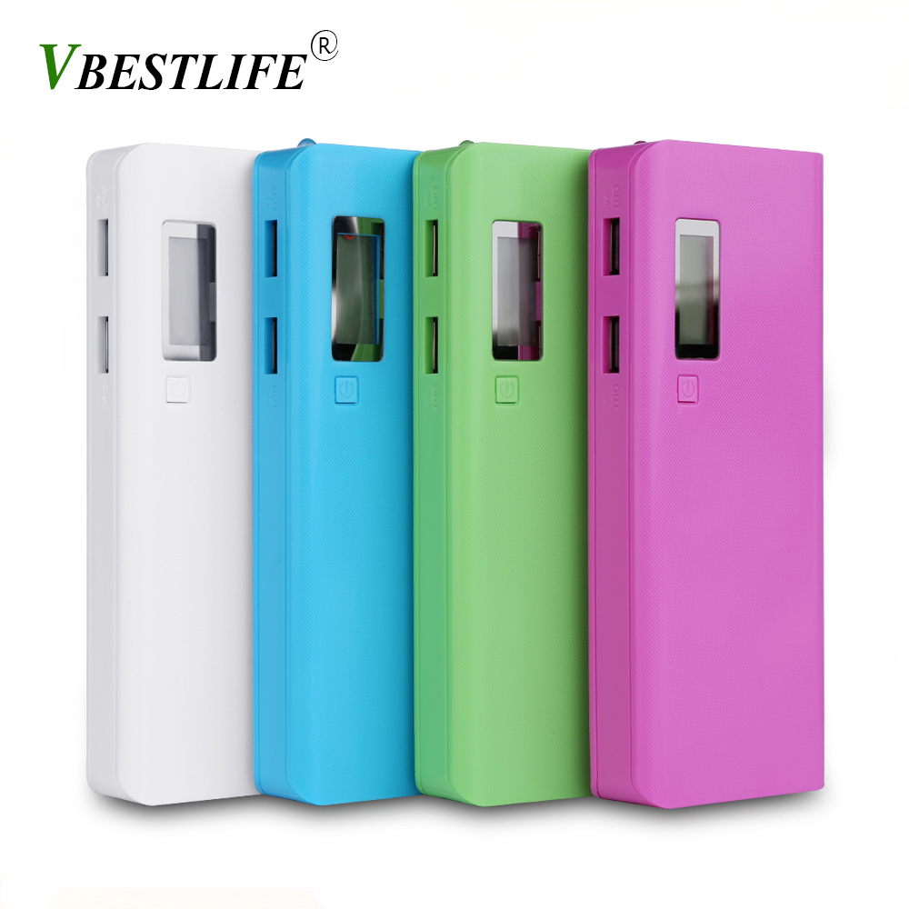 (No Battery) DIY 5x18650 5V 2A Portable Battery Power Bank Box <font><b>case</b></font> with LCD <font><b>Display</b></font> Dual USB 2 Ports <font><b>18650</b></font> Battery Holder <font><b>Case</b></font> image