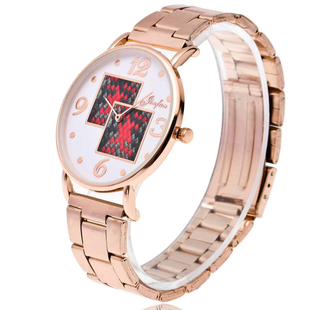 2019 New Women's Watches Geneva Business Automatic Mechanical Watch Fashion Rose Gold Women Men Stainless Steel Quartz Watch