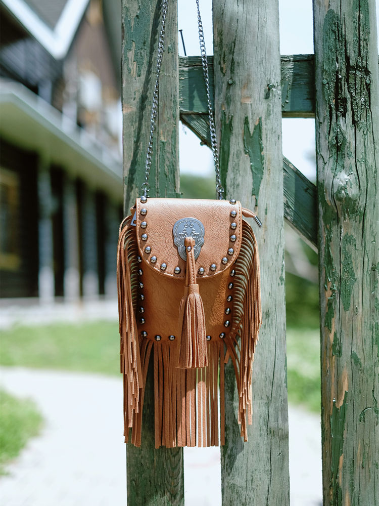 New Vintage Bohemian Fringe Messenger Crossbody Bag Purse Women Tassel Boho Hippie Gypsy Fringed Tote Handbag Womens (50)