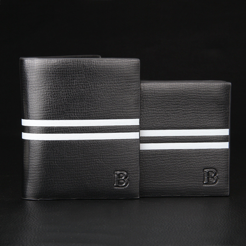Men Wallet Leather Vintage short Purses High Quality black Money Bag Credit Card holders Dollar Bill Wallet wholesale famous brand leather wallets men small casual vintage short purses male credit card holders hot sale creative design money bags