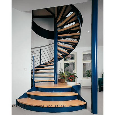 antique steel-wood spiral staircase designs(LH-SC011)