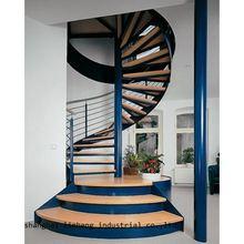 Стальная и деревянная винтовая лестница в старинном стиле (lh