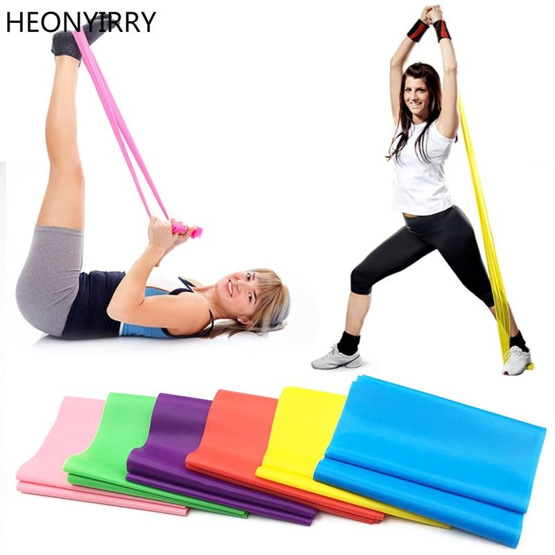 1.2m Elastic Yoga Pilates Rubber Stretch Exercise Band Arm Back Leg Fitness thickness 0.35mm resistance band Free Shipping yoga stretch fitness exercise gym yoga stretch strap belt figure waist leg exercise