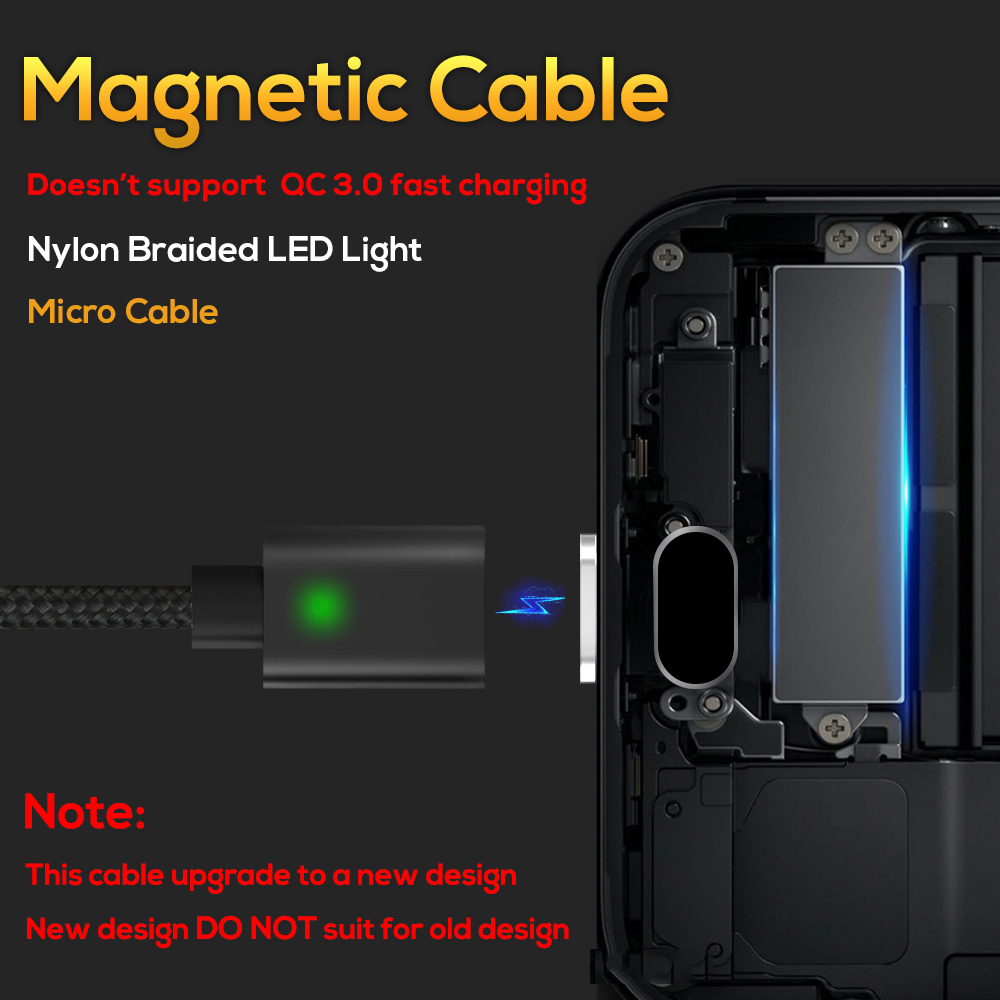 Image 2 - TOPK AM21 Magnetic Cable Nylon Braided Micro USB Cable Data Sync Magnet Charger Cable For Xiaomi Redmi 4X Samsung S7 Microusb-in Mobile Phone Cables from Cellphones & Telecommunications