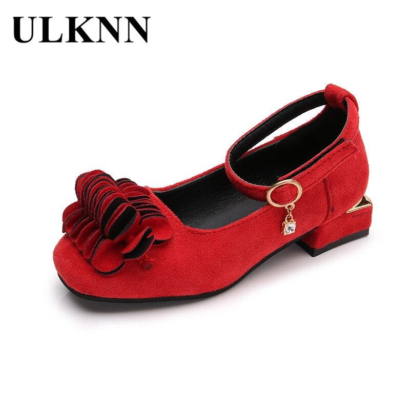 ULKNN Children Shoes Kids Sandals Flower Square Heel Girls Princess Sandals Party Shoe Children Casual Shoes Hot New Spring 2018 ...