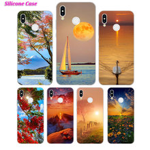Silicone Case The Sun and fall colors for Huawei P Smart 2019 Plus P30 P20 P10 P9 P8 Lite Mate 20 10 Pro Lite Nova 3i Cover все цены