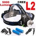 Super bright 5000LM 12W CREE XML-L2 LED Headlamp LED Headlight 18650 flashlight head light led  lamp