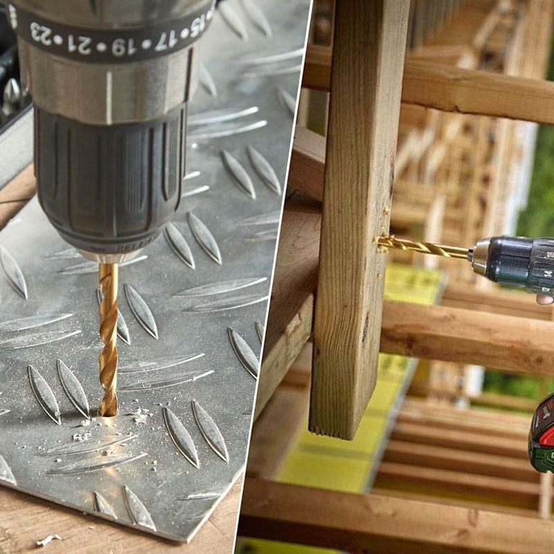 Set di punte per trapano HSS TASP 19 pezzi per metallo e legno 1,0 ~ - Punta da trapano - Fotografia 2