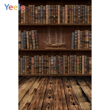 Yeele Old Wooden Bookshelf Books Board Ship Model Study Portrait Photographic Backgrounds Photography Backdrops Photo Studio
