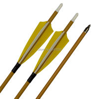 30 Carbon Arrows Wood Camo Shaft ID 6.2mm SP500 with 4 Shield Turkey Feather for Archery Bows Hunting