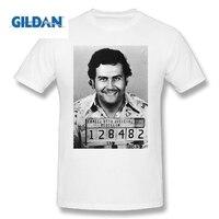 Возьмите футболка Пабло Эскобара EL покровитель взрослых Crewneck короткий рукав Футболки для женщин продажи хлопка человек большой Размеры Фу...