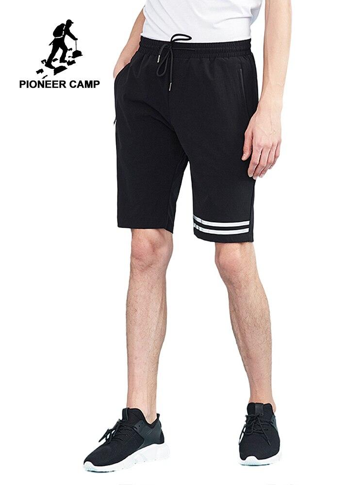 パイオニアキャンプ新しい夏のショートパンツ男性ブランドファッションカジュアル白のストライププリントショートパンツ品質バミューダ男性 ADK801113  グループ上の メンズ服 からの ショートパンツ の中 1