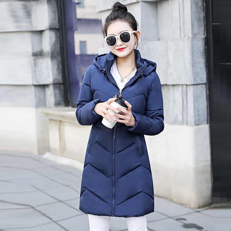2019 Hooded Vrouwen Winter Coat Warm Vrouwen Plus Size S-6XL Winter Jas Vrouwelijke Lange Parka Womens Gewatteerd Jassen jaqueta Feminina