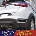 WENKAI Хром ABS Литье задний противотуманный свет крышка лампы для Mazda CX-3 2016 2017 2018 Foglight бампер отделка отражателя