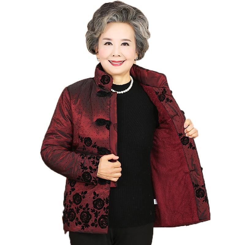 2018 herbst und winter frauen stepp padded warm panda bambus stickerei stehkragen haar ärmeln mode retro kleid mantel