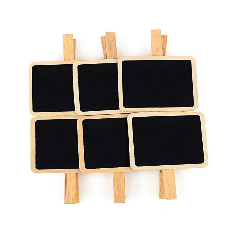 12 Pcs/lot Korean Blackboard Wooden Clips Kawaii Mini Clip For Photo Paper Decoration School Office Supplies Gift Stationery