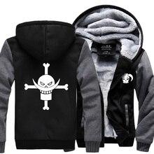 2019 hot sale winter men coat Anime One piece Monkey D Luffy sweatshirts casual hoodie personalized Skull tracksuit Men