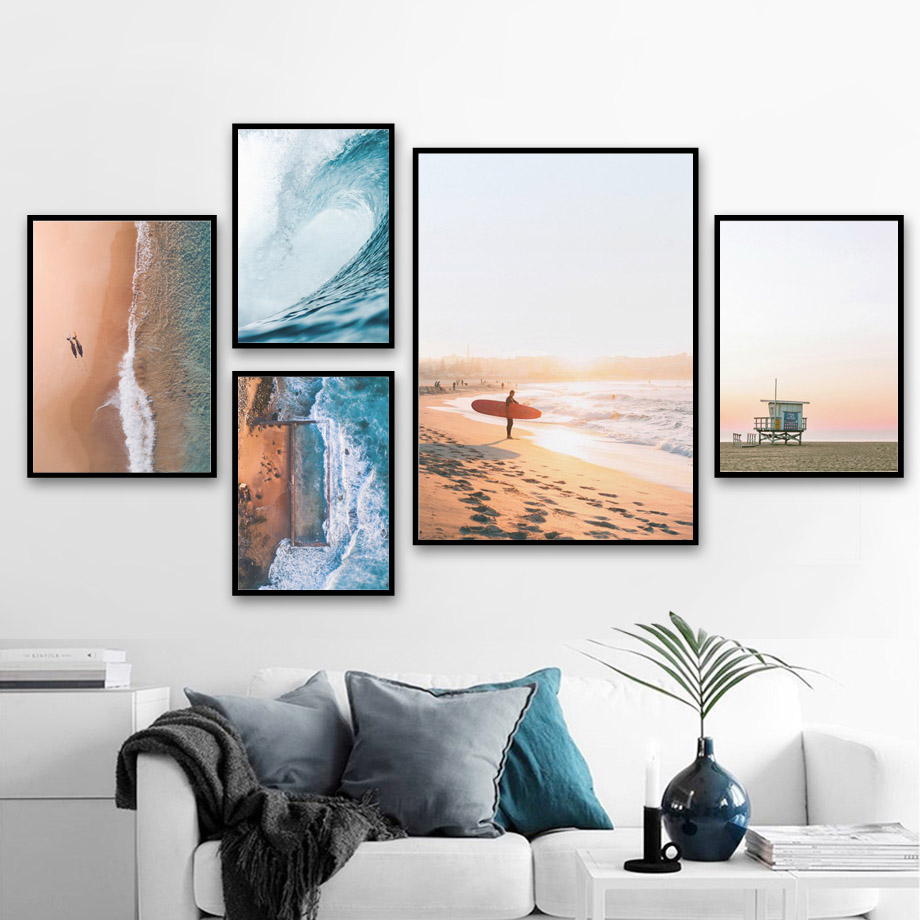 Sea-Beach-Wave-Girl-Surfboard-Landscape-Wall-Art-Canvas-Painting-Nordic-Posters-And-Prints-Wall-Pictures (2)