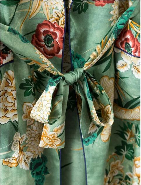 HTB1C13EPVXXXXbnapXXq6xXFXXXa - Ethnic Flower Print with sashes Kimono Shirt Retro Tops blusas