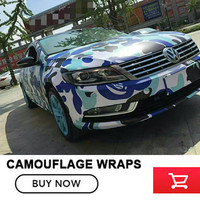 5/10/15/20/25/30m Blue Jumbo Camo Car Scooter Vinyl Wrap Urban Sticker Bomb Camouflage Printed Graphics Pvc Material Roll Sheet