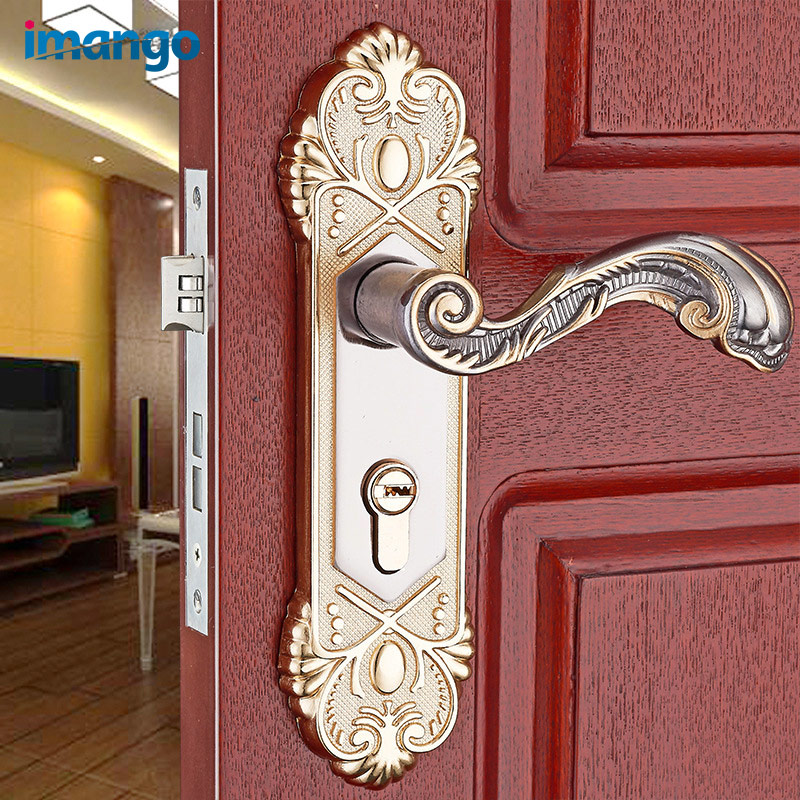 an interior room bedroom kitchen mechanical locks interior door lock set wood door handle tongue. Black Bedroom Furniture Sets. Home Design Ideas