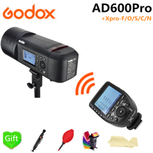 Godox AD600Pro TTL Outdoor Li-Battery Flash Strobe Light for Canon Nikon Sony Fujifilm Olympus + Xpro-F/O/S/C/N Flash Trigger godox xpro c xpro n xpro s xpro f xpro o flash trigger transmitter 2 4g wireless hss ttl for canon nikon sony fuji dslr camera
