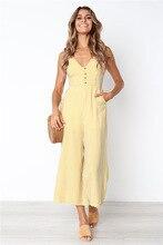 Kaguster Striped bodysuit overalls women office Summer yellow romper Salopette femme clothes 2019 elegant bodies ladies