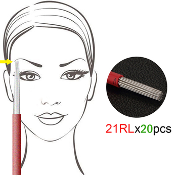 20pcs R21 Round Microblading Needles For Permanent Make Up Manual 3D Pen Tattoo Machine Fog Make up Kit chifres malevola png