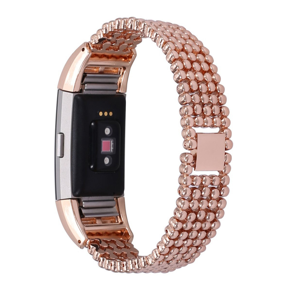 2018 Luxury watchbands stainless steel watch band Rose Gold Style Bracelet Smart WatchBand Strap For Fitbit Charge 2 Top Quality joyozy milanese stainless steel strap for fitbit charge 2 band for charge 2 smart wristband bracelet strap charge2 new color