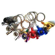 Metal Turbo-charger Turbocharging Turbo Style Keyring Turbocharger Keychain