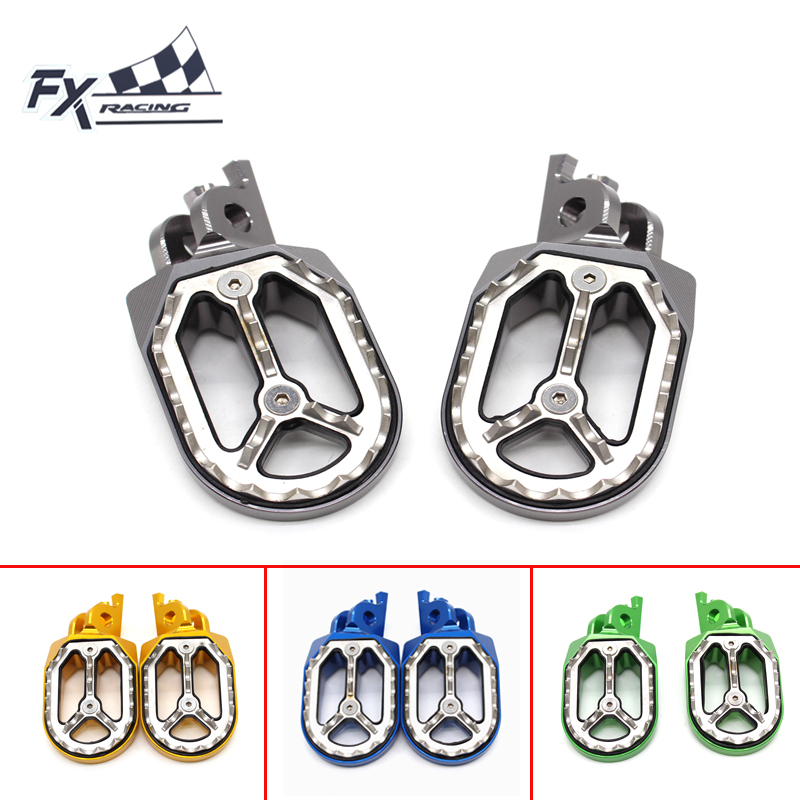 FX Aluminum CNC Dirt Bike Pit Motocross Foot Peg Pedal Footpegs For Suzuki RMZ250 2005-2006 RM250 2006-2008 RMZ RM 250 Foot Part dwcx motorcycle adjustable chain tensioner bolt on roller motocross for harley honda dirt street bike atv banshee suzuki chopper